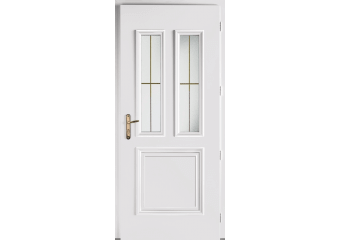 Porte d'entrée alu vitrée 2 carreaux