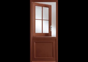 Porte vitrée avec châssis ouvrant