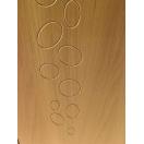 Porte d'entrée alu bois pleine avec motifs galets
