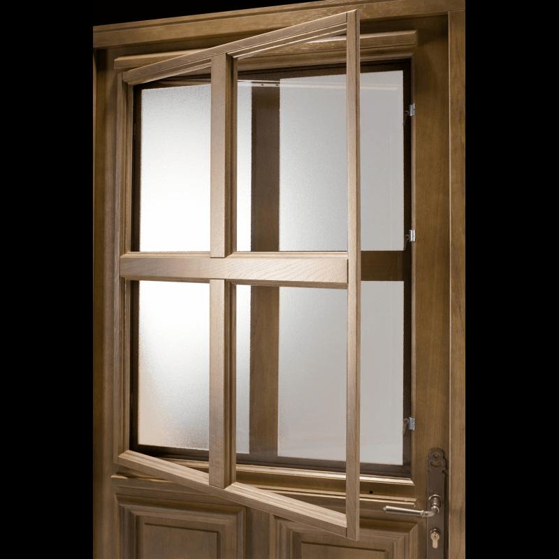 Porte d 39 entr e bois vitr e 4 carreaux - Porte d entree bois vitree ...