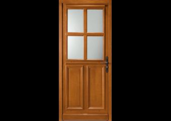 Porte mi-vitrée 4 carreaux