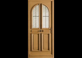 Porte vitrée 2 carreaux arrondis