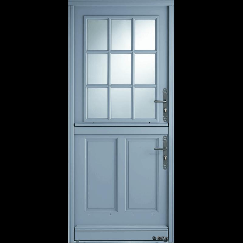 porte d 39 entr e bois style fermi re vitr e