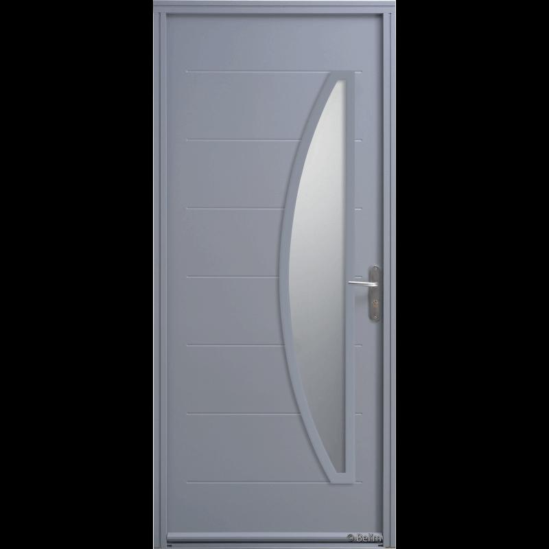 porte d 39 entr e acier vitr e demi lune verticale. Black Bedroom Furniture Sets. Home Design Ideas