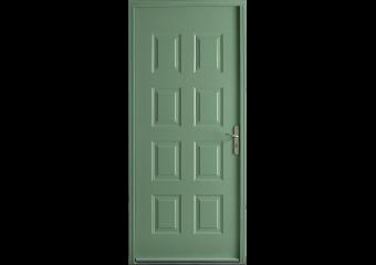 Porte d'entrée acier pleine 8 motifs moulures