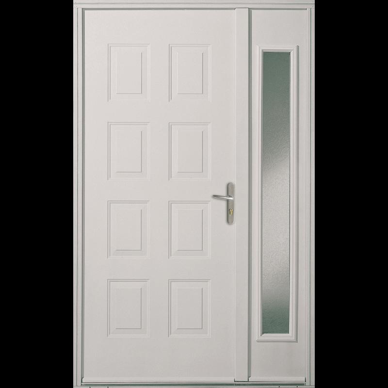 porte d 39 entr e acier pleine cassettes. Black Bedroom Furniture Sets. Home Design Ideas