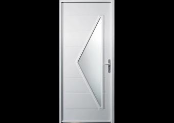 Porte avec vitrage triangulaire