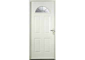 Porte vitrée demi-lune