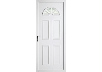 Porte vitrée demi lune