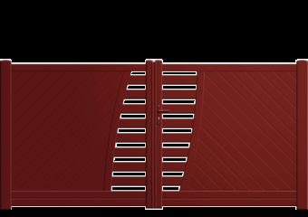 Portail droit ajouré en partie centrale