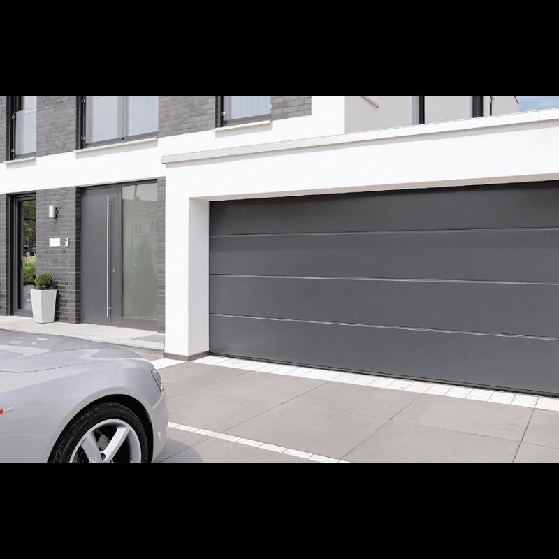 Porte de garage sectionnelle refoulement plafond gamme - Porte de garage a refoulement plafond ...