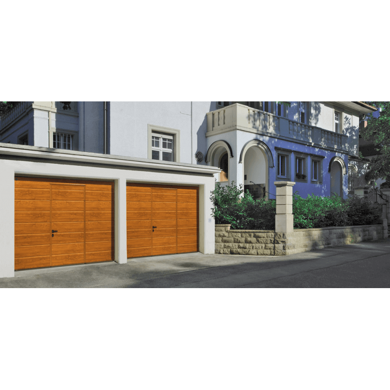 Porte de garage sectionnelle refoulement plafond gamme for Porte de garage sectionnelle isolante