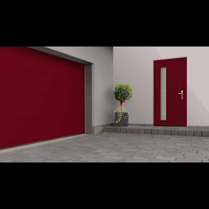 Porte de garage sectionnelle refoulement plafond gamme premium - Porte de garage a refoulement plafond ...