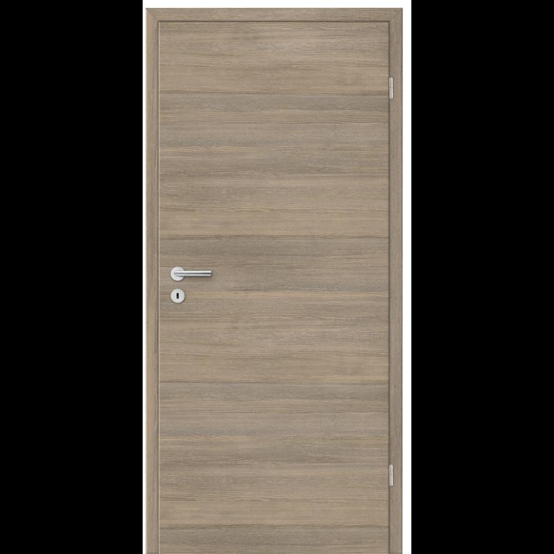 Porte int rieure d cor bois lisse for Porte interieure 2 vantaux bois