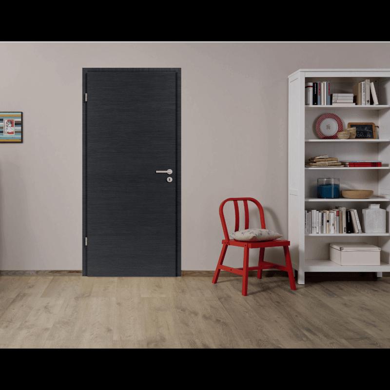 Porte int rieure structur e effet bois - Porte interieur gris anthracite ...