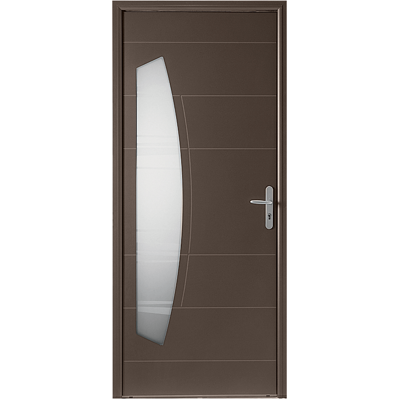 porte d 39 entr e alu mi vitr e en virgule. Black Bedroom Furniture Sets. Home Design Ideas