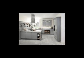 cuisine cottage en fr ne laqu coloris cachemire. Black Bedroom Furniture Sets. Home Design Ideas