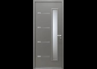 Porte d'entrée mi-vitrée et inserts 3D