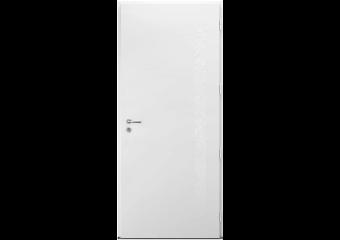 Porte d'entrée aluminium pleine avec motifs déco