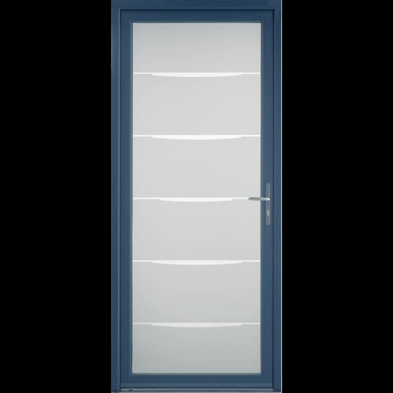 Porte d 39 entr e contemporaine grand vitrage - Grande porte d entree ...