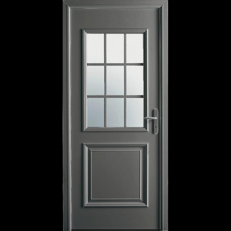 Porte d 39 entr e alu mi vitr e et petits bois for Porte vitree standard