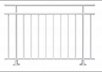Garde-corps aluminium à barreaux verticaux