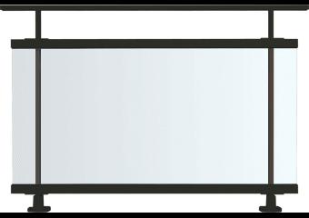 Garde-corps aluminium entièrement vitré