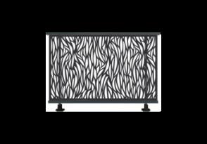 Garde-corps aluminium aux motifs courbées