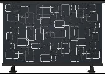 Garde-corps alu contemporain aux motifs géométriques