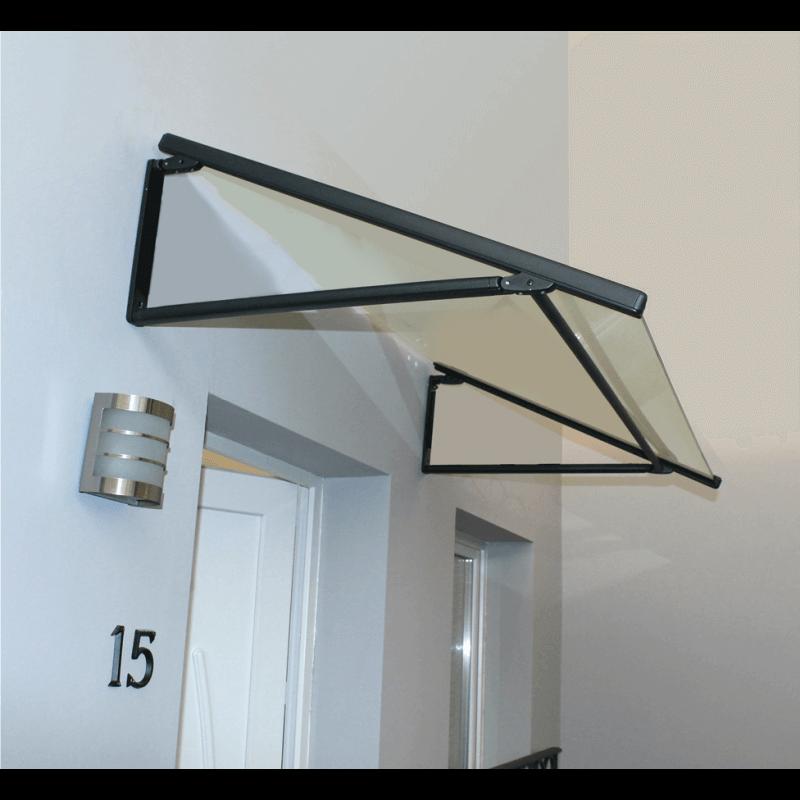 marquise porte de garage cheap baie vitre baie coulissante baie vitre sur mesure with marquise. Black Bedroom Furniture Sets. Home Design Ideas