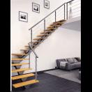 Escalier métal limon central design