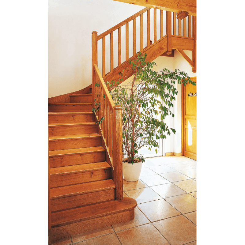 escalier classique bois 1 4 tournant centre. Black Bedroom Furniture Sets. Home Design Ideas