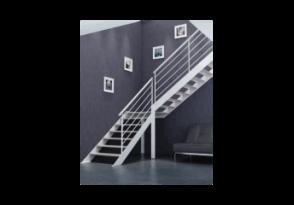 Escalier limons latéraux acier