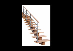 Escalier à limon central bois