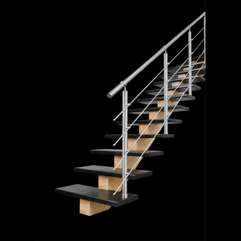 Escalier moderne en bois limon central bois - Escalier limon central bois ...