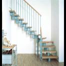 Escalier ajustable 1/4 tournant
