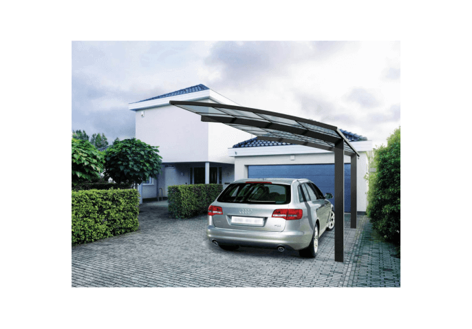 Carport aluminium sur mesure for Toit en polycarbonate transparent