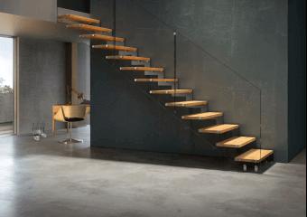 escaliers sur mesure et standard acier et bois modernes classiques cas o. Black Bedroom Furniture Sets. Home Design Ideas