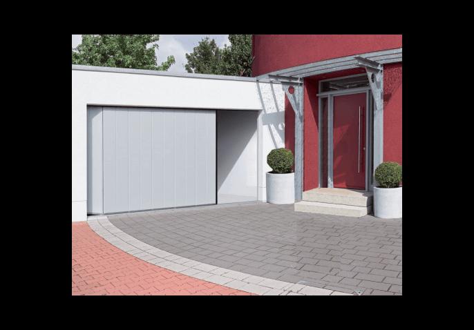Porte de garage sectionnelle refoulement lat ral - Porte de garage a refoulement plafond ...