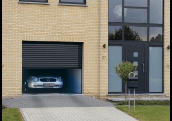 Portes De Garage Motorisées Sectionnelles Basculantes Et - Baie vitrée volet roulant pour remplacer porte garage