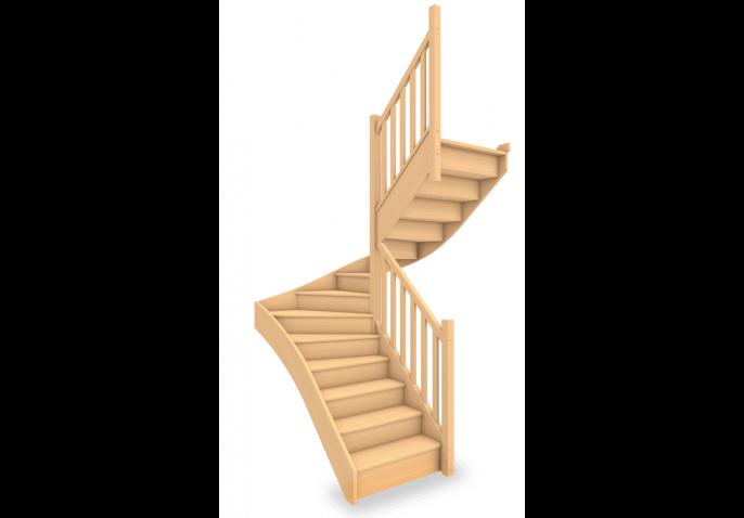 Escalier standard 1/2 tournant