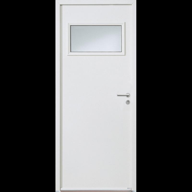 porte de service aluminium avec vitrage. Black Bedroom Furniture Sets. Home Design Ideas
