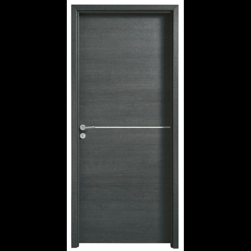 porte int rieure effet bois structur 1 insert alu. Black Bedroom Furniture Sets. Home Design Ideas