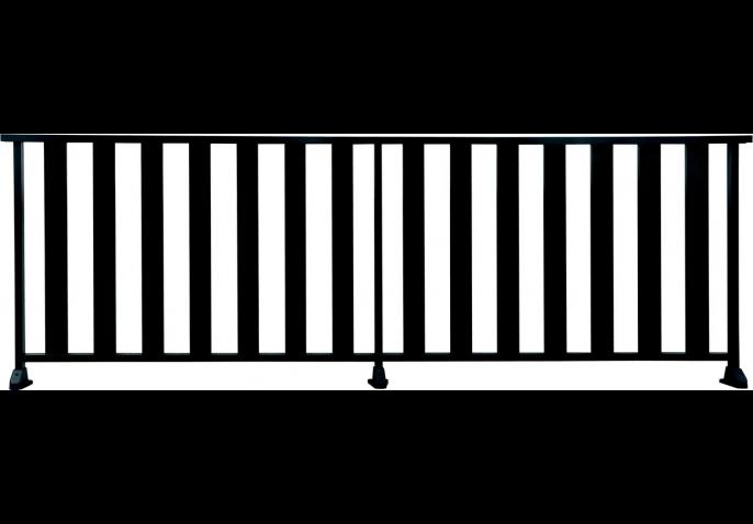 garde corps en aluminium larges barreaux. Black Bedroom Furniture Sets. Home Design Ideas