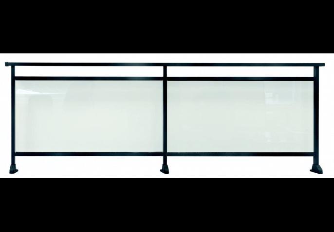 Garde-corps aluminium vitré contemporain