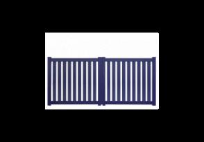 Portail droit ajouré barreaux verticaux