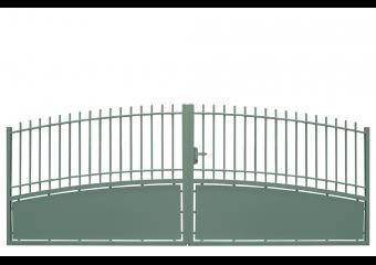 Portail convexe semi-ajouré traditionnel