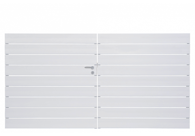 Portail droit et ajouré lames horizontales