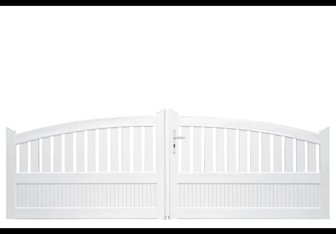 portail pvc convexe semi ajour lames verticales. Black Bedroom Furniture Sets. Home Design Ideas