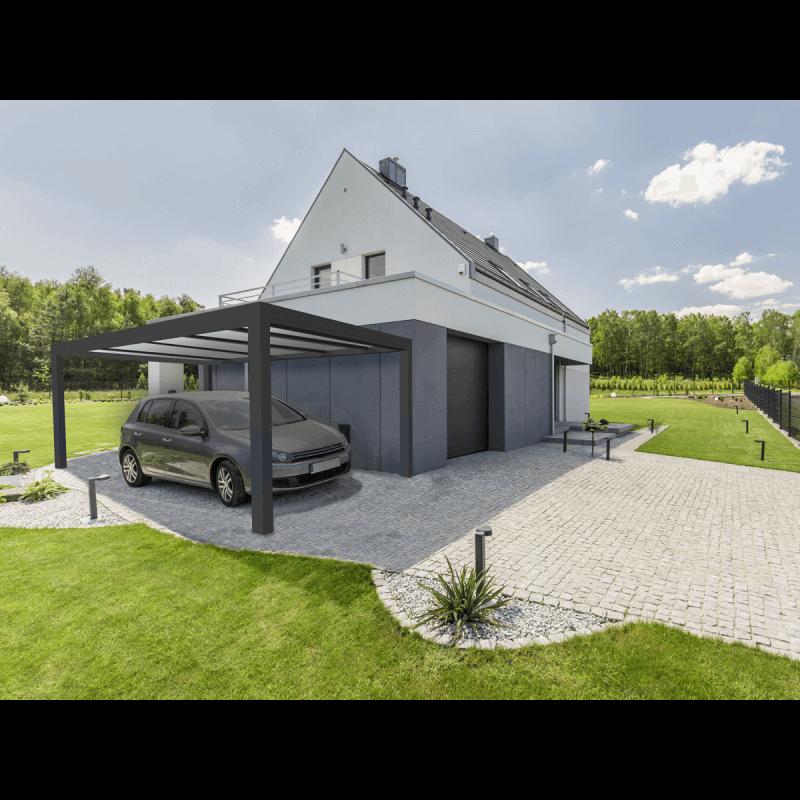 carport aluminium mural et autoportant. Black Bedroom Furniture Sets. Home Design Ideas